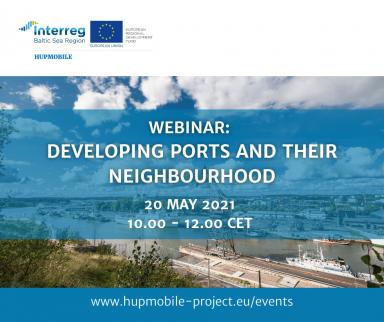 HUPMOBILE webinar promotional image of port of Turku area.